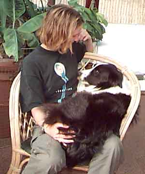 Au Pair Dog Carers Border Collie with Marie